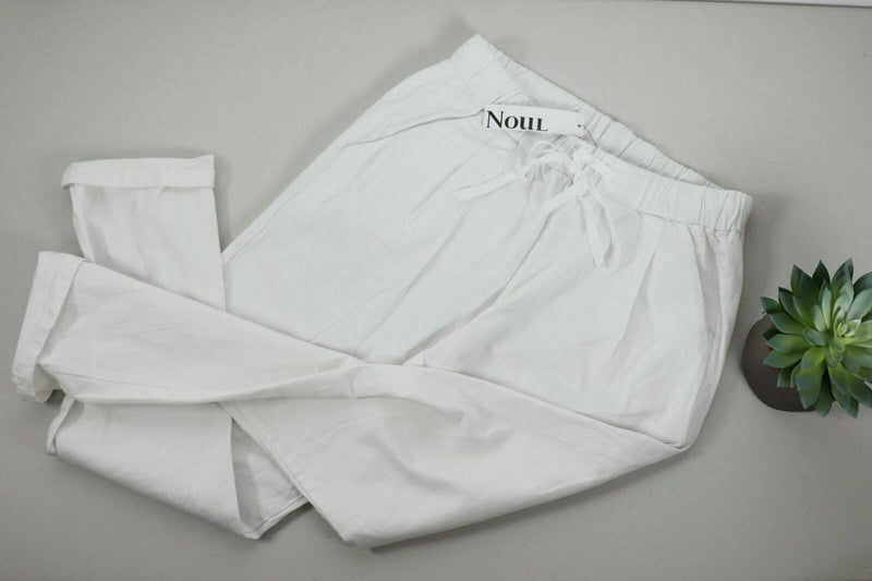Noul Women's Size Large White Slim Fit Pants NWT