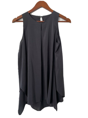 Aritzia Wilfred Womens XXS Black Silk Blouse