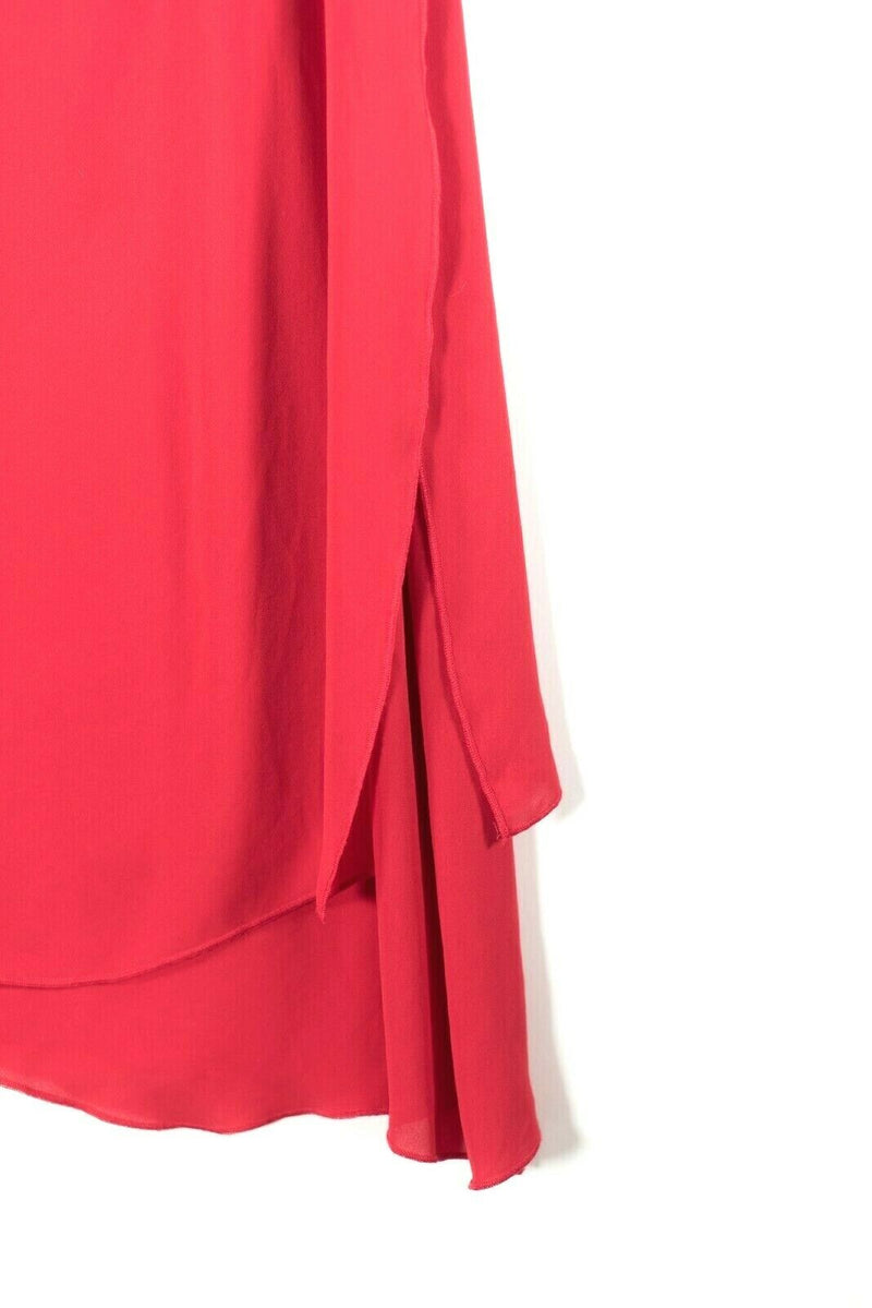 BCBG Maxazria Womens Size 4 Small Red Dress Asymmetrical One Strap Crepe Mini