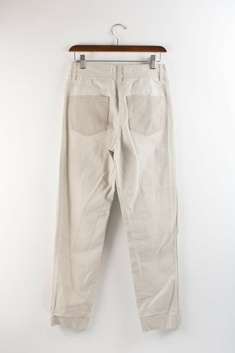 Aritzia Wilfred Free Womens 0 Beige Pants Cotton Larissa Herring Mix Pockets