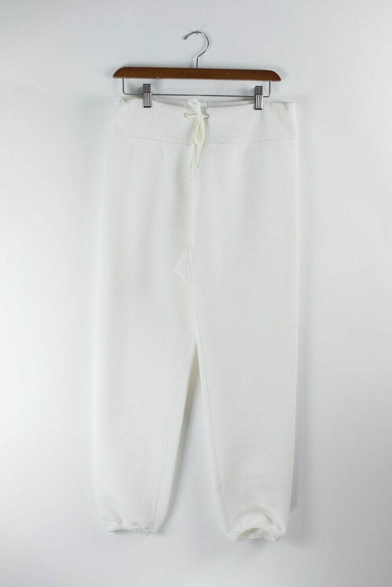 3.1 Phillip Lim Womens Size Small White Pants Ribbed Knit Jogging Sweat Pants