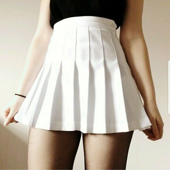 American Apparel Womens Size XS White Skirt Gabardine Pleated Tennis Cheerleader