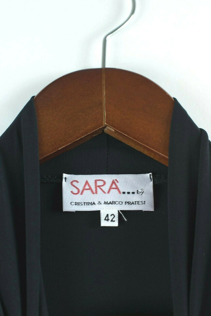 Sara By Cristina And Marco Prates Womens 42 Small Black Tank Top Shirt Blouse