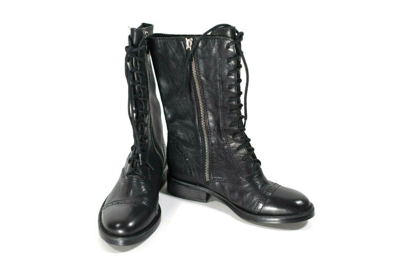 Vince Camuto Womens Size 5.5 Black Combat Boots