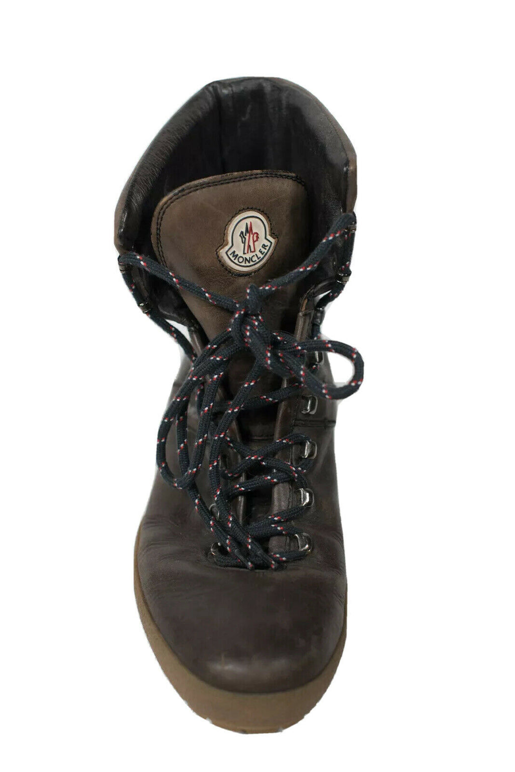 Moncler Mens Size 42 Brown Lace Up Boots
