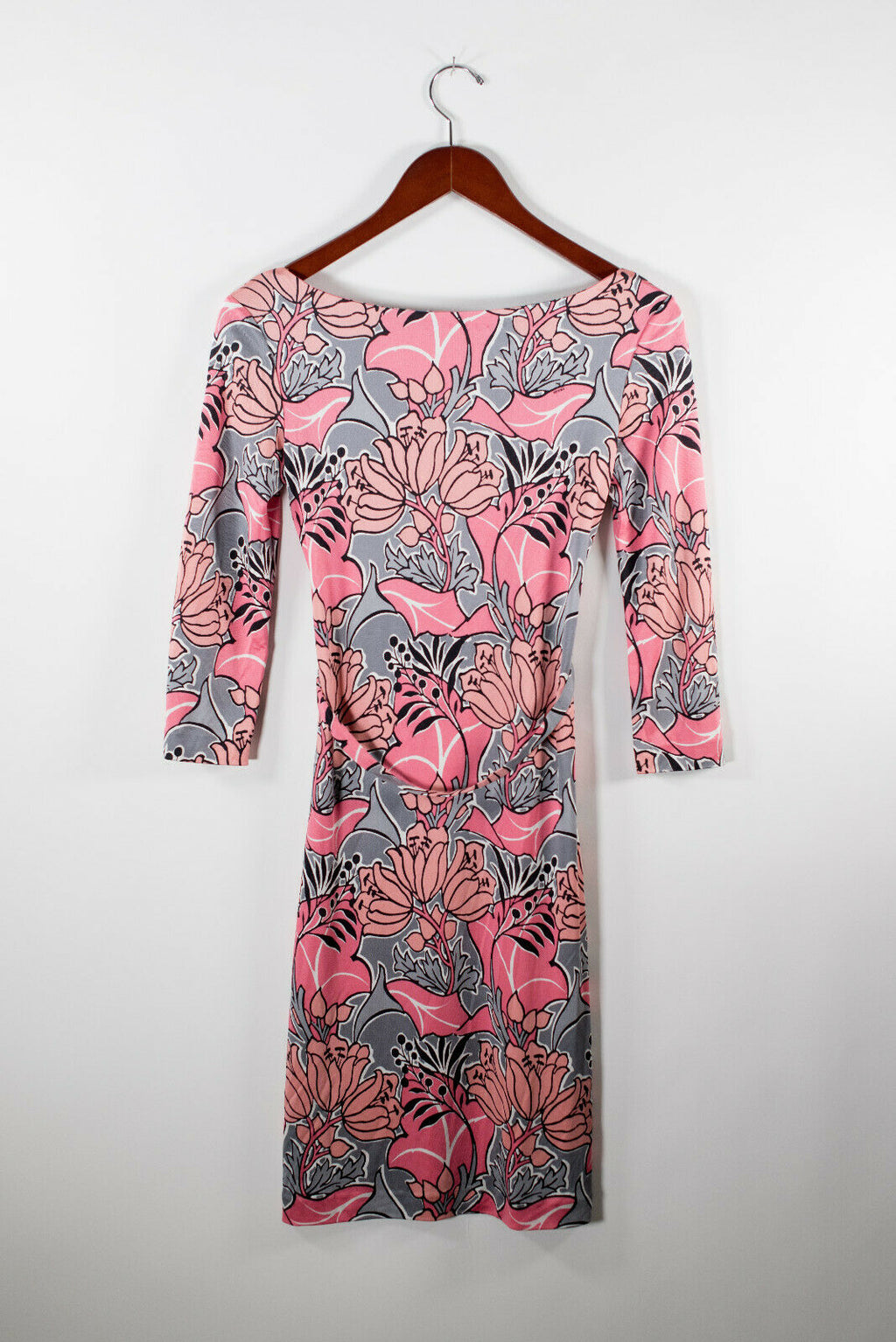 Prada x Holliday & Brown Small Pink Floral Belted Dress