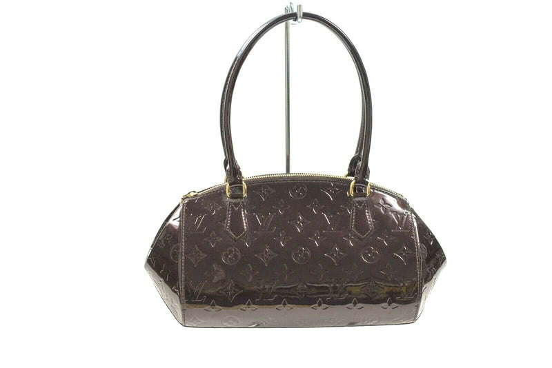 Louis Vuitton Purple GM Bag Shoulder Bag Monogram Vernis Sherwood Amarante Purse