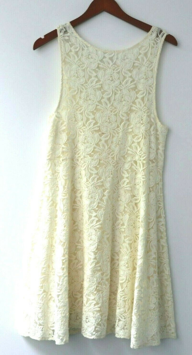 Free People Urban Outfitters Women Medium Cream Aline Slip Dress Lace Summer 2pc