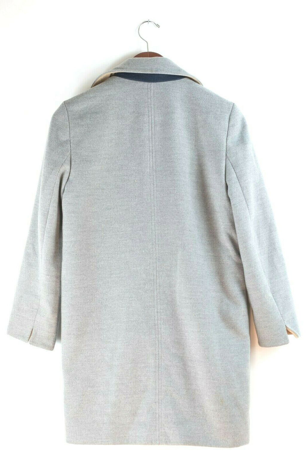 TopShop Womens Size 4 Grey Coat Oversized Zipper Pockets Duster Overcoat Jacket
