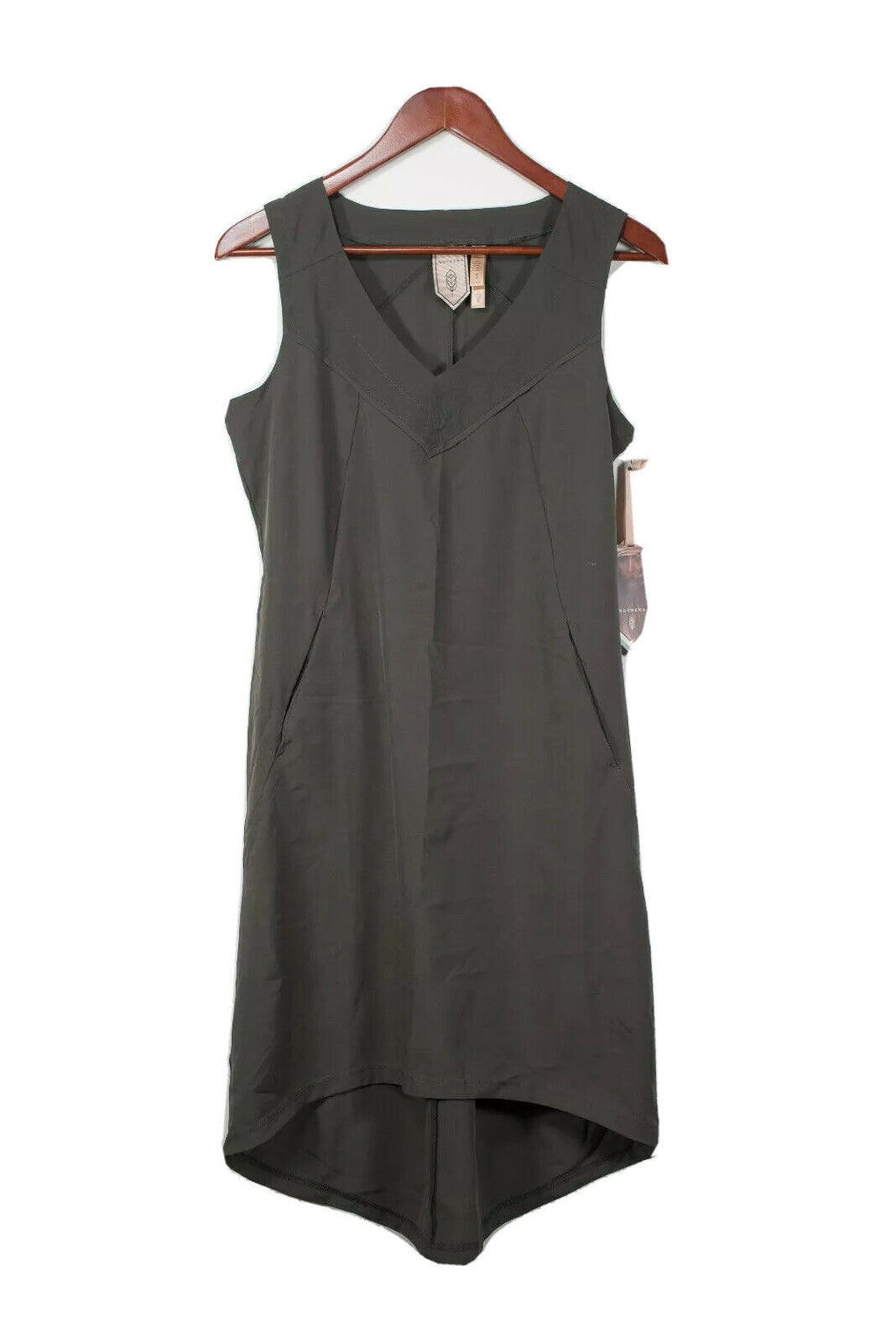 Indygena Small Olive Green Midi Dress