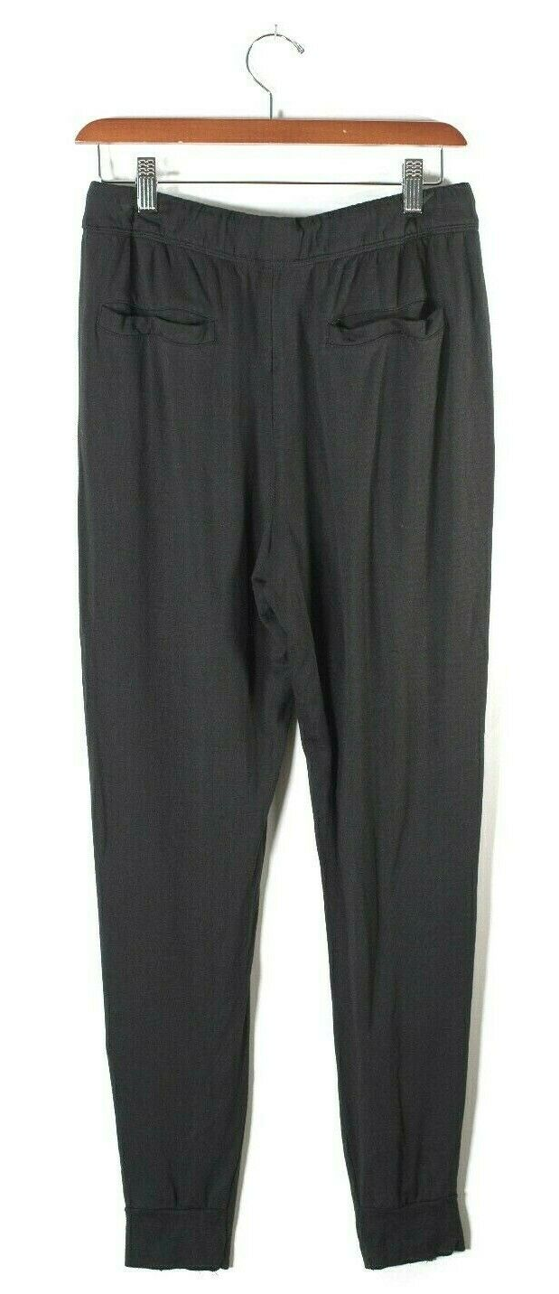 Helmut Lang Womens Petite Black Sweat Pants Stretchy Soft Drawstring Trousers