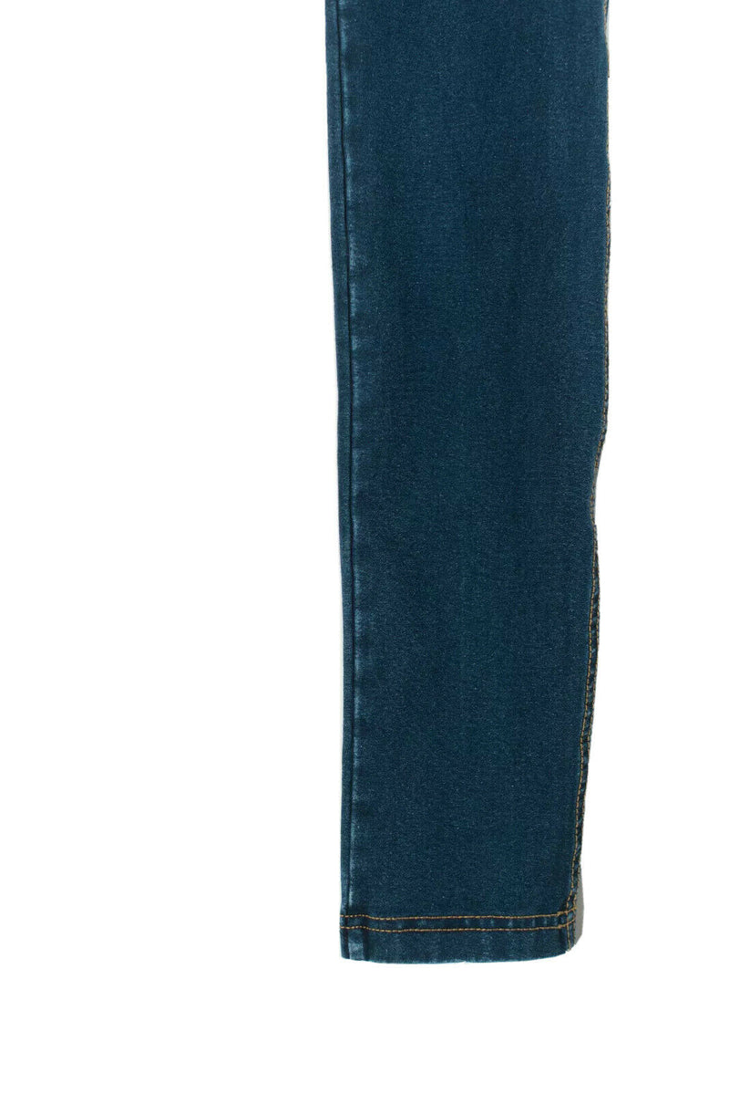 Freddy Womens Size 2 Blue Jeans Denim High Wasited Solid Yellow Stitch Skinny