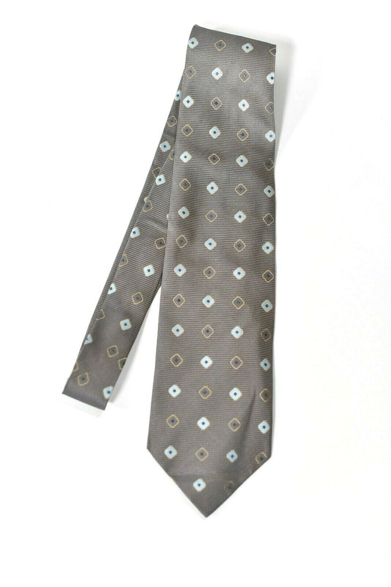 Ermenegildo Zegna Mens Gray Neck Tie Pattern Designer 100% Silk Made In Italy