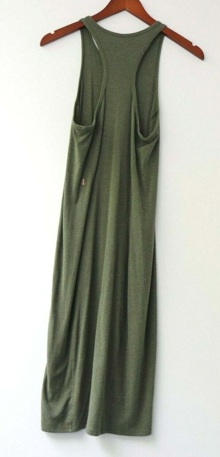 Kit and Ace Womens Size Small Green Sullivan Racer Back Midi Fitted Dress