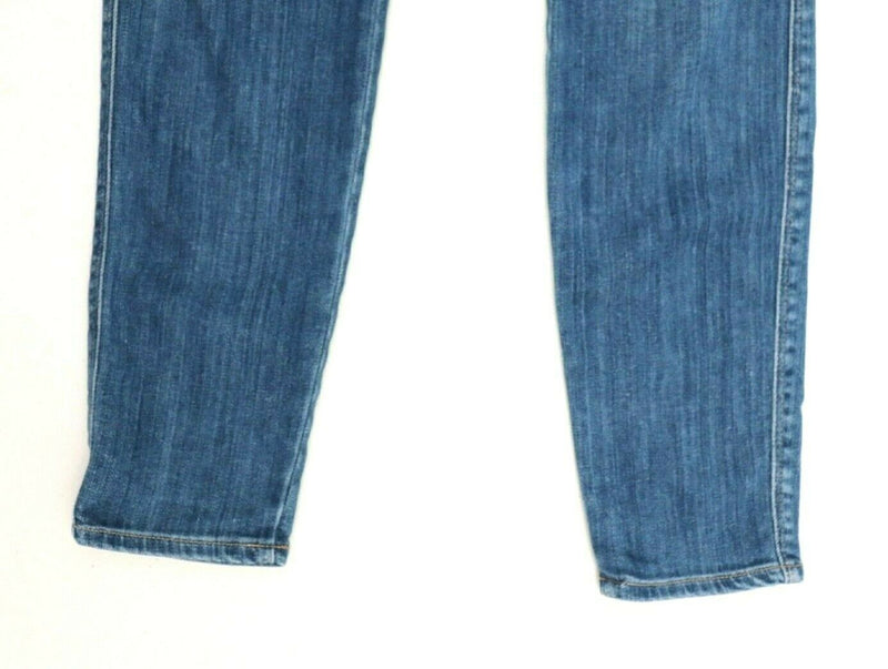 Genetic Womens Size 27 Blue Denim Distressed Skinny Pockets Jeans