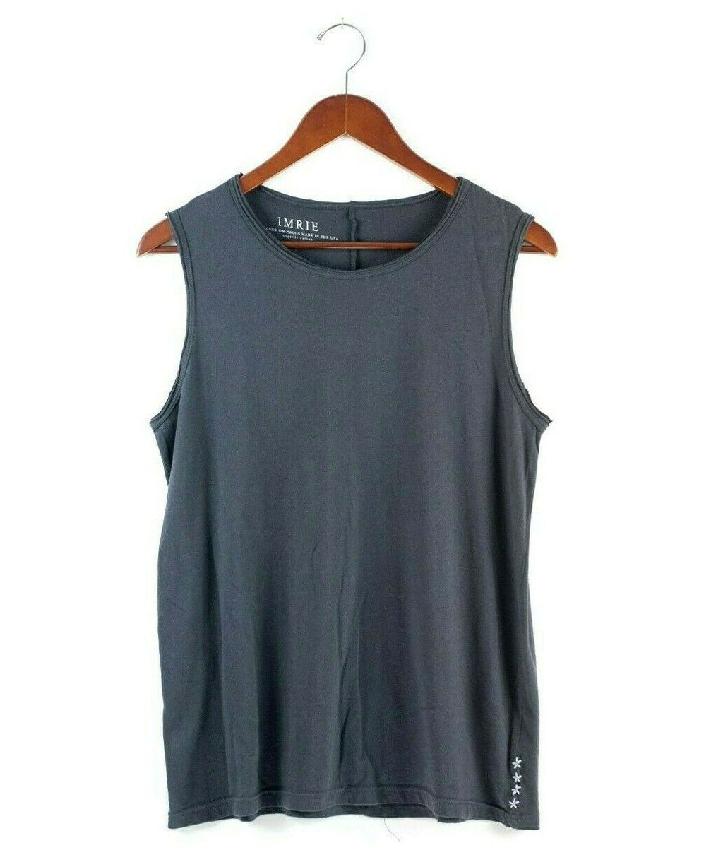 Anthropologie Imrie Womens Medium Blue Tank Top Organic Cotton Pullover Shirt