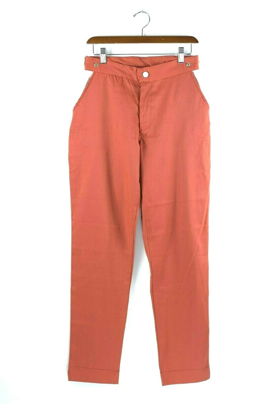Jean Paul Gaultier JPG Womens Medium Orange Pants Hight Waist Cotton Vintage