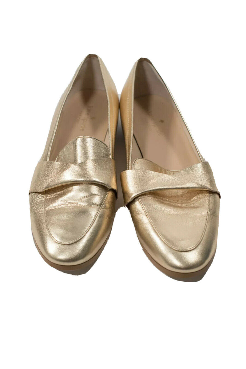Kate Spade Womens Size 9.5 Gold Loafers