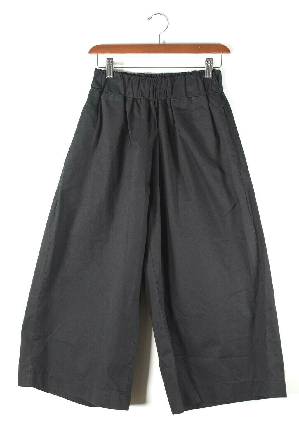 3.3 Field Trip Womens Small Black Pants Elastic Waist Wide Leg Cotton Pockets