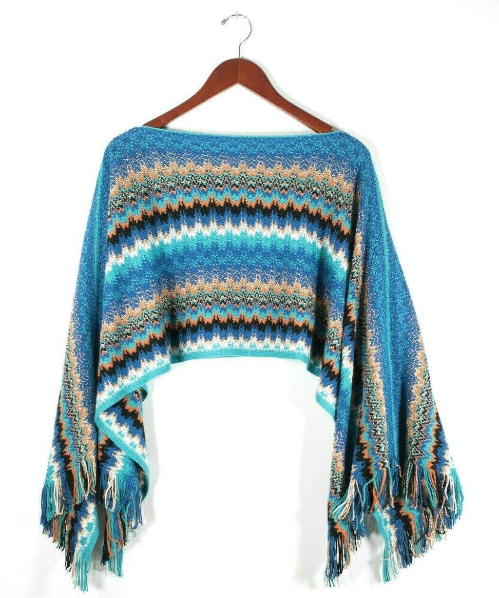 Missoni Blue Orange Gold Poncho