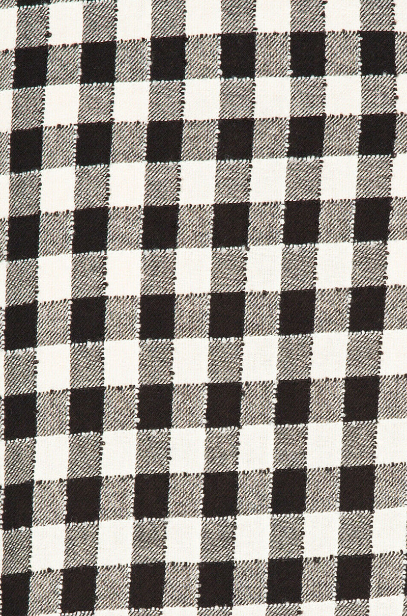Current/Elliott Small Black White Shirt Dress Sherlock Plaid