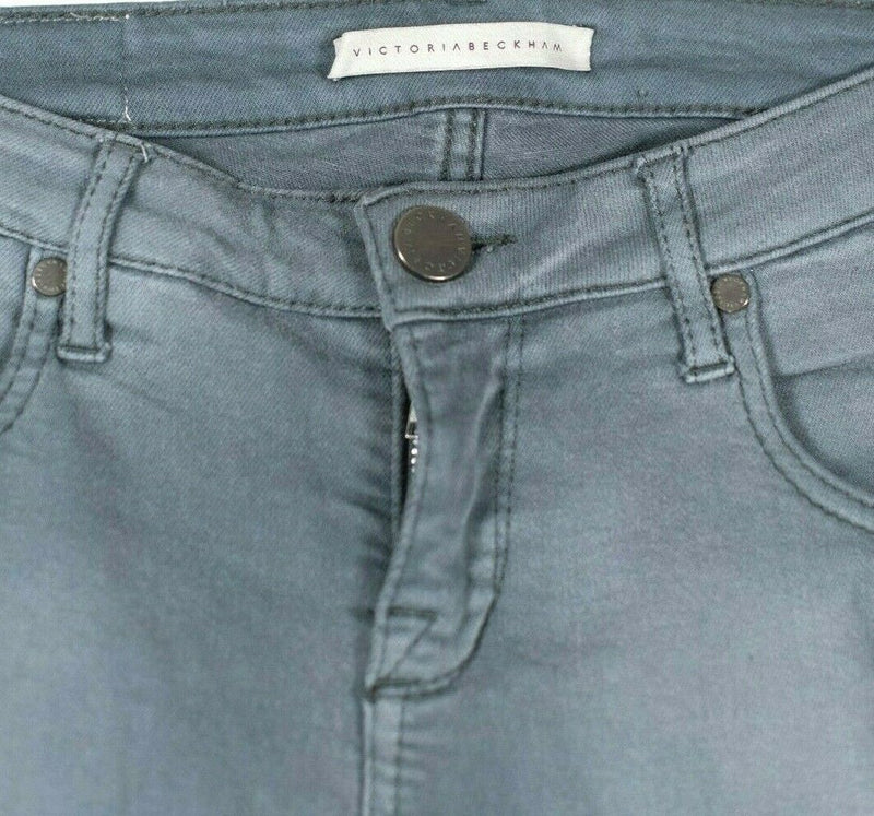 Victoria Beckham Womens Size 28 S Gray Skinny Jeans Button Closure Soft Cotton