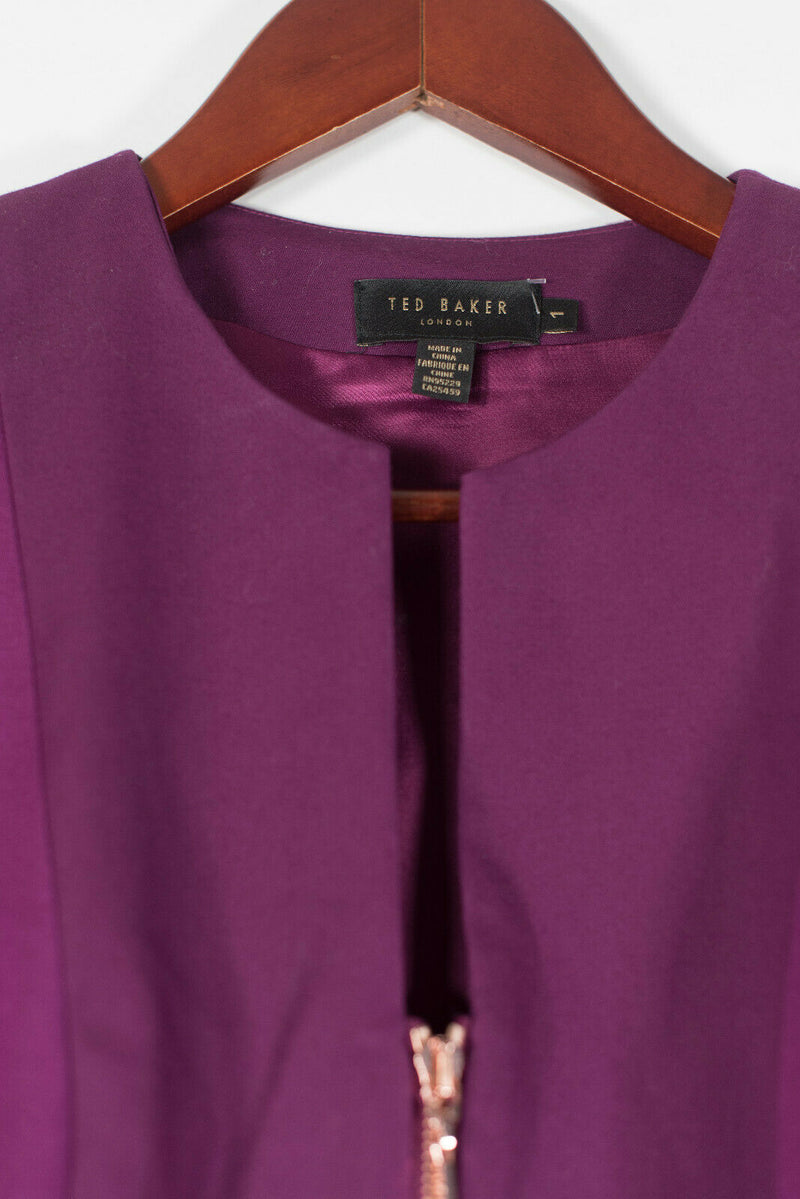 Ted Baker Size 1 Purple Jamthun Dress
