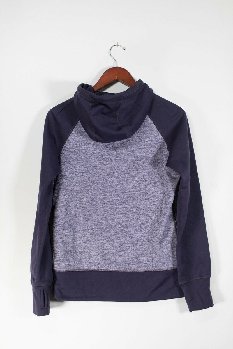 Nike Dri-Fit Women's Small Purple Pullover Sweater Hood Sweatshirt Pocket Shirt