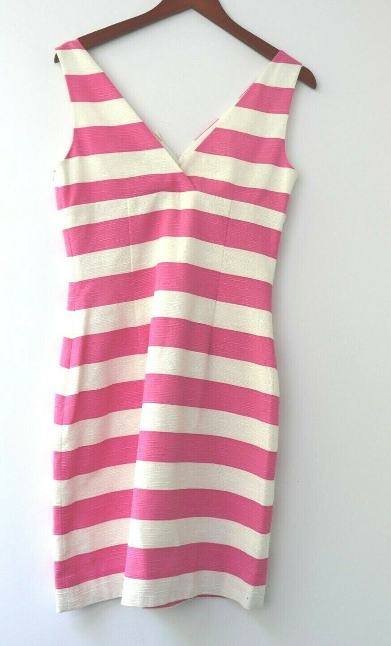 Kate Spade Women's Size 6 Pink White Silverscreen Stripe Dress