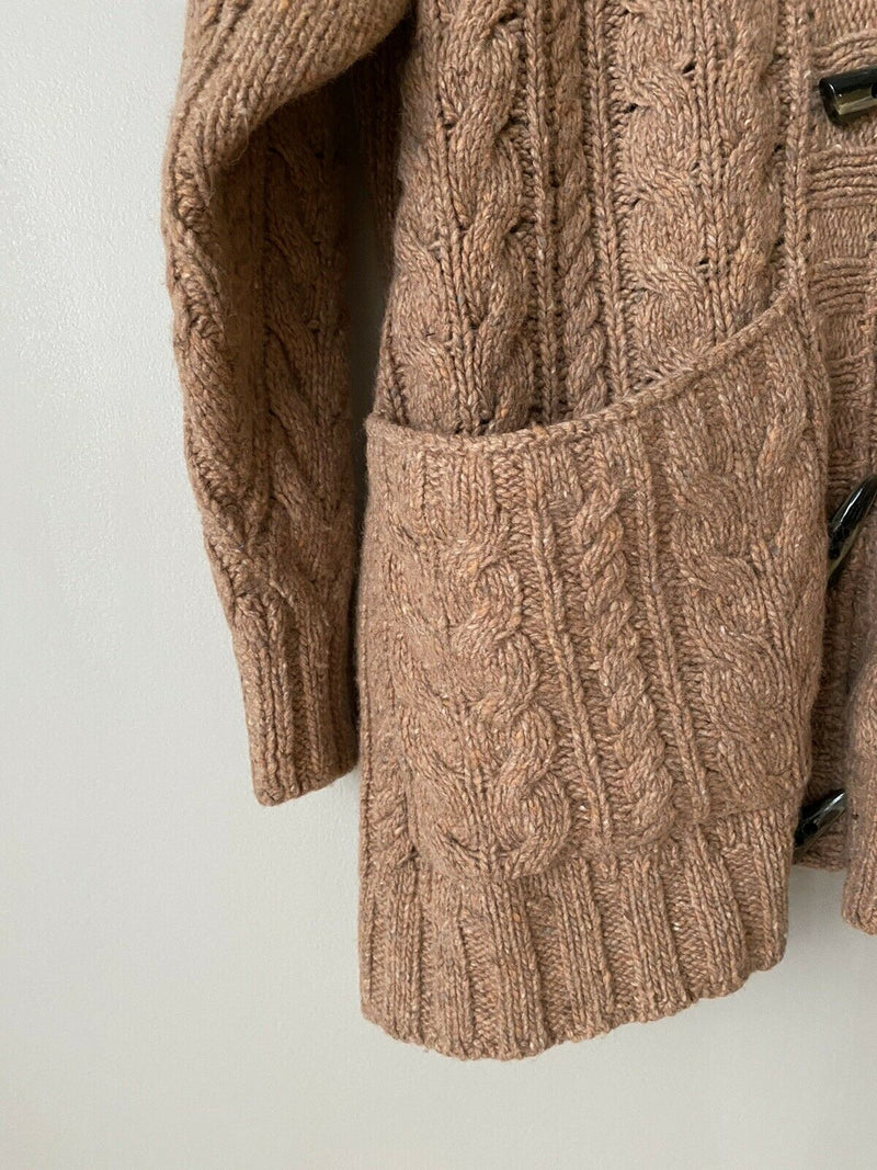 Christy Dawn Women's Size Small Brown Arlo Cardigan Sweater Washed Clay Hooded