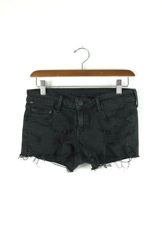 Aritzia Talula Womens Size 24 XXS Black Denim Cutoff Shorts