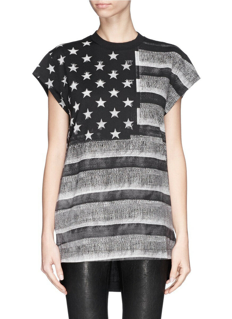 Givenchy Small Black Stars and Stripes Oversized T-shirt