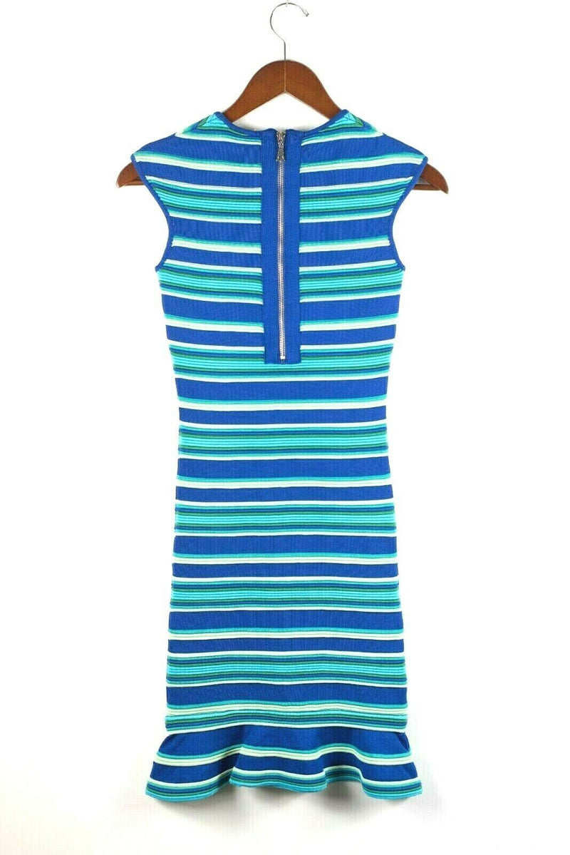 Torn by Ronny Kobo Womens Small Blue Green Turquoise Dress Stripped Scuba NWT