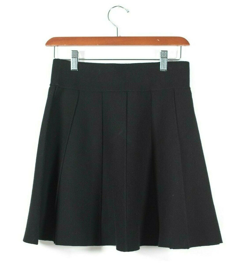 Club Monaco Womens Size Small Black Skirt Flared Knit Panel Short Mini Skirt NWT
