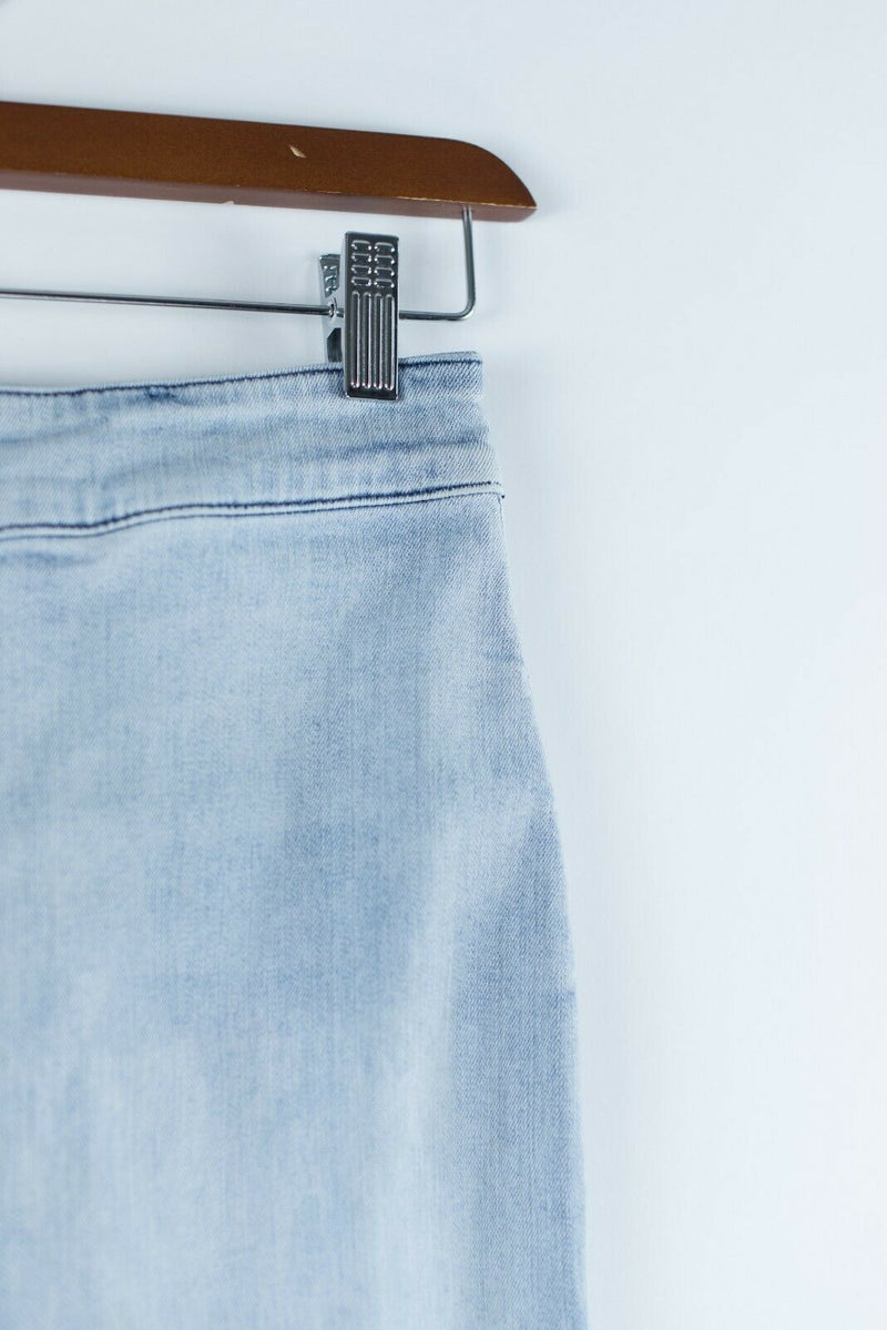 Aritzia The Castings Womens Size 00 Light Blue Denim Pencil Skirt Faded Denim