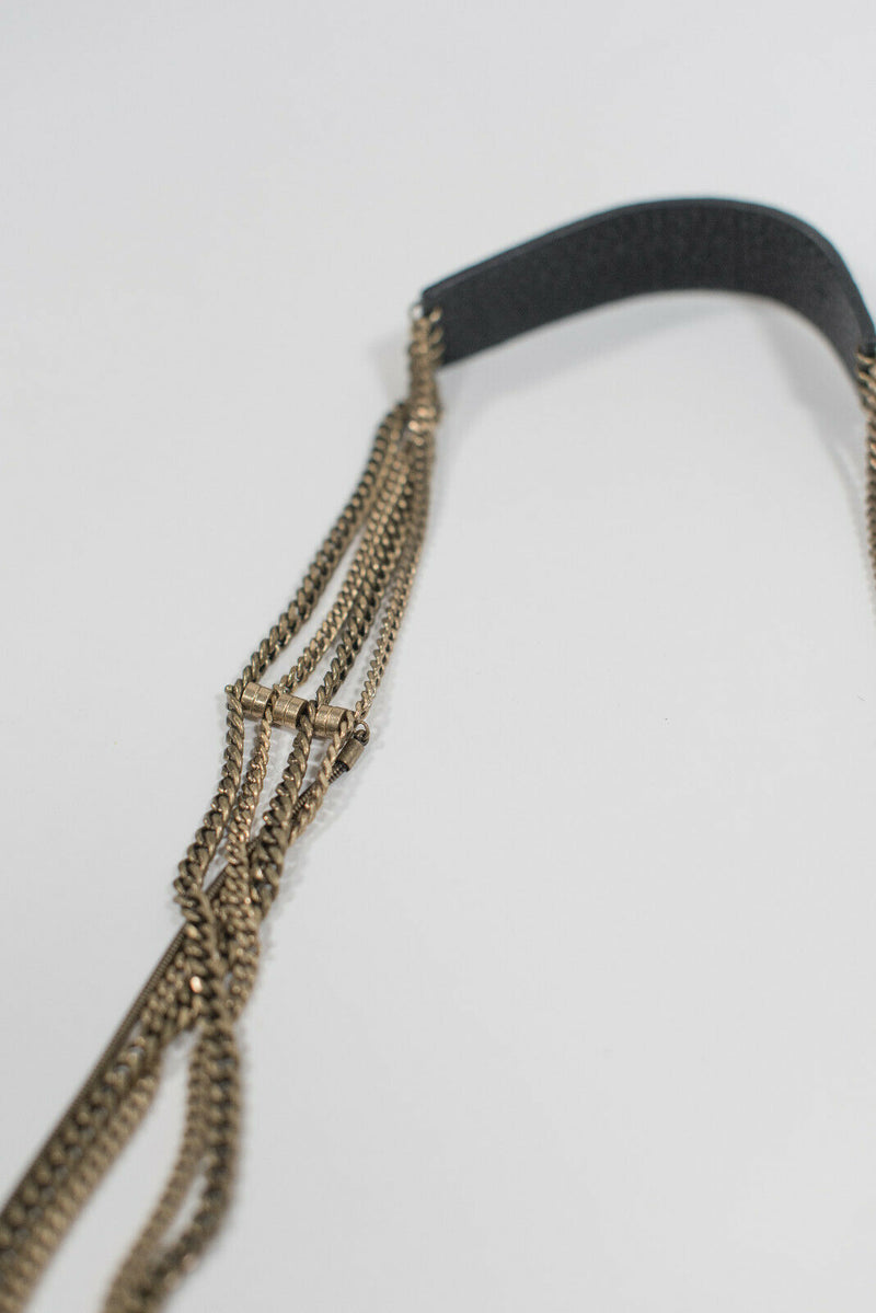 Jenny Bird Gold Tone Multi Strand Chain Necklace