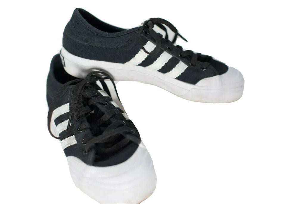 Adidas Matchcourt Womens 6.5 Black Sneaker Shoes Vulcanised Canvas Skateboarding