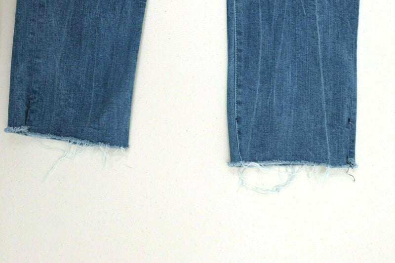 Parker Smith Womens Size 28 Blue Jeans Straight Leg Frayed Hem