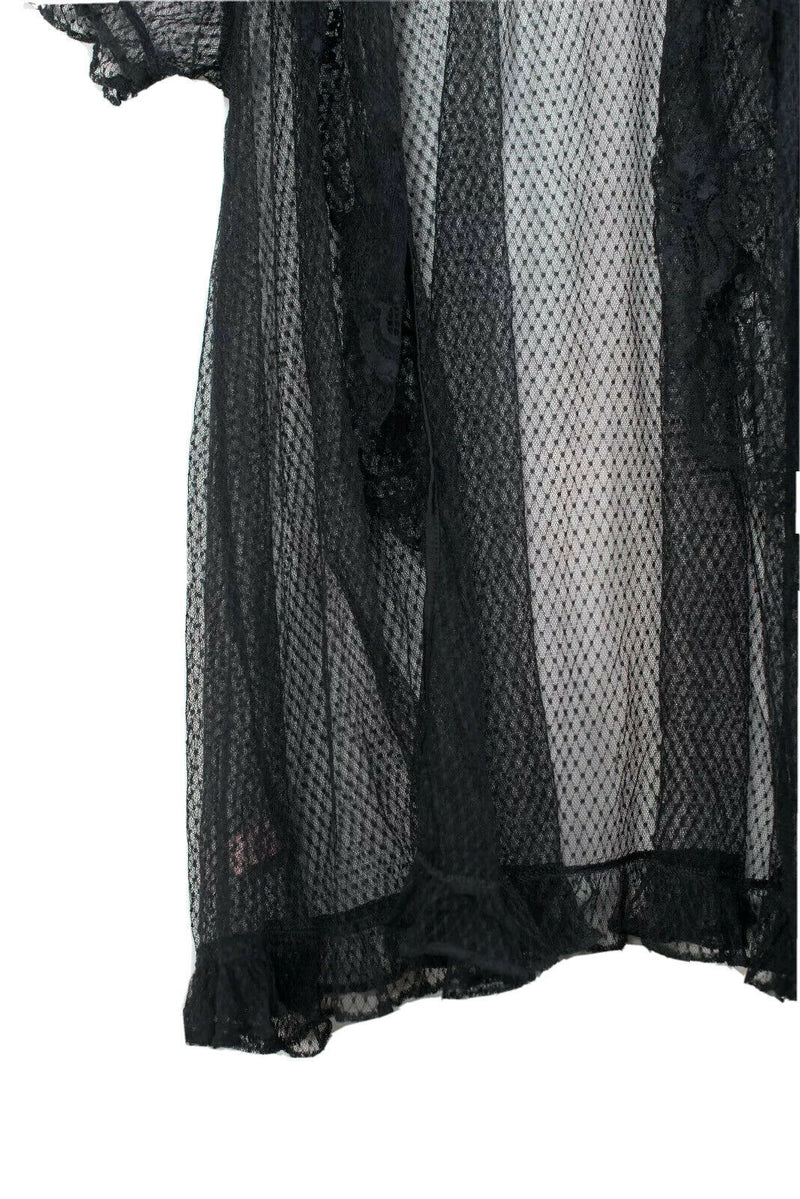 Agent Provocateur Womens Size 2 Black Short Sleeve Lace Blouse