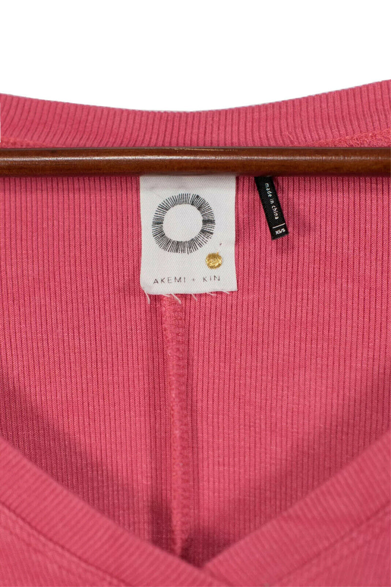 Anthropology Akemi + Kin Womens XS/S Pink Pullover Shirt