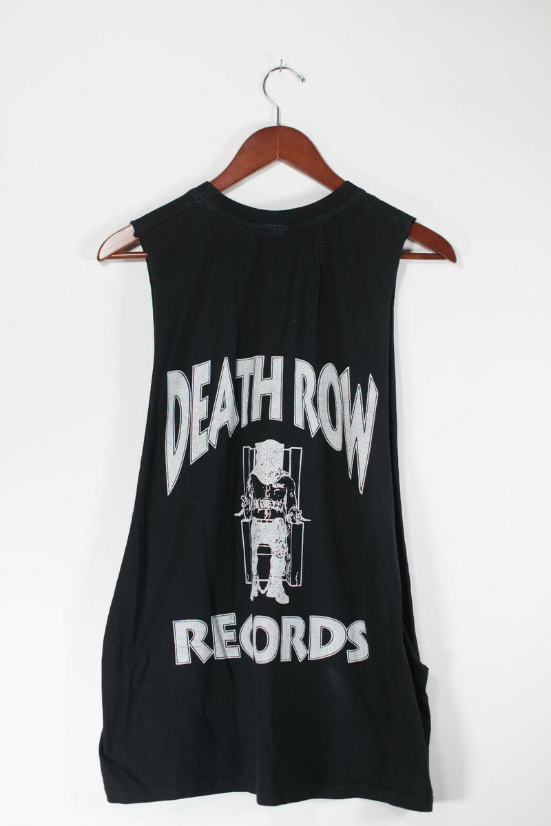 Death Row Records Unisex S/M Black Tank Top Sleeveless Graphic Low Side T Shirt