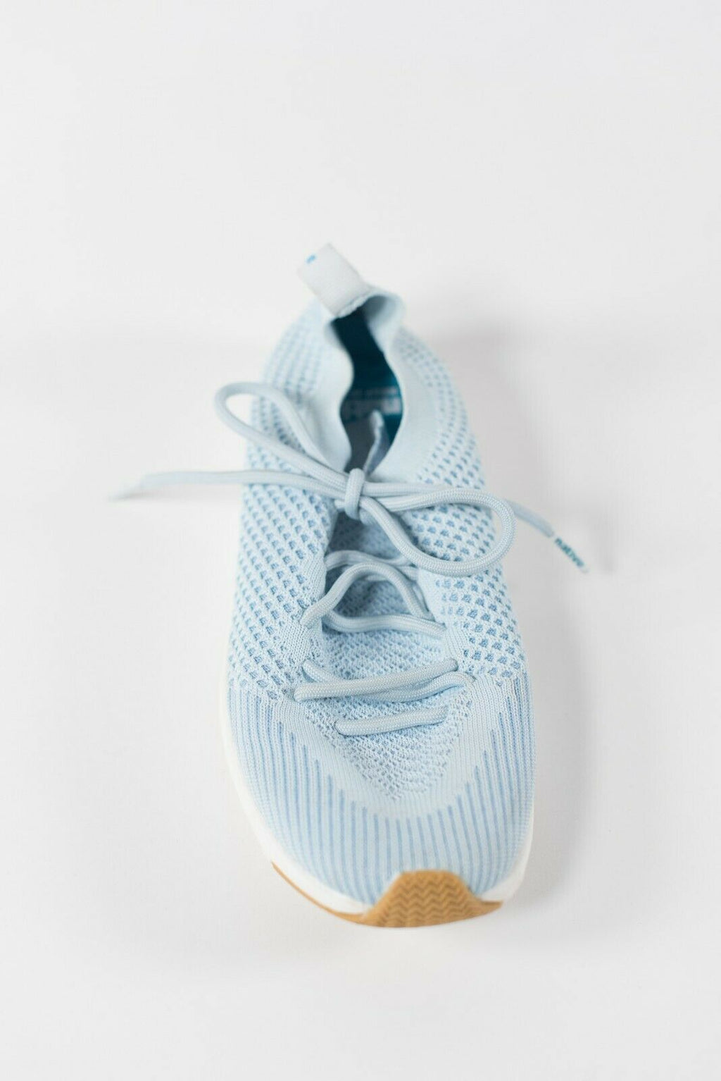 Native Women's Size 6.5 Light Blue Sneakers Lace Up Knit Trainer Running Shoes