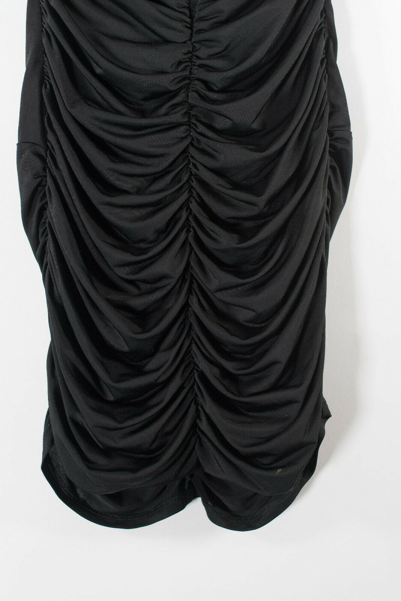 Marciano Womens XS Black Dress Ruched Sweetheart Neckline Strapless Mini Party