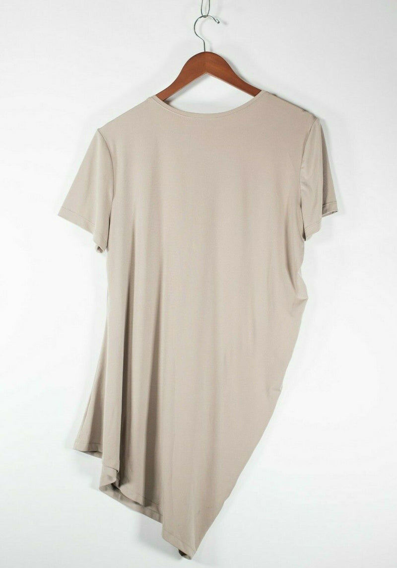 Bailey Women's Size Extra Large Beige Shirt Short Sleeve Stretch Nylon Tunic Top