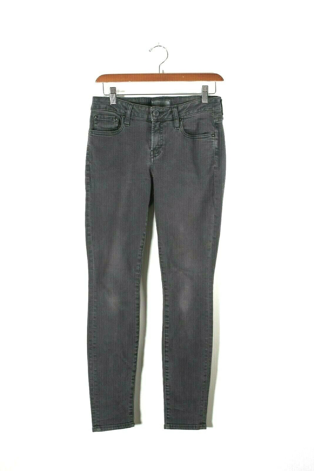 Aritzia The Castings Womens Size 27 Black Denim Pants Mid Rise Skinny Slim Jeans