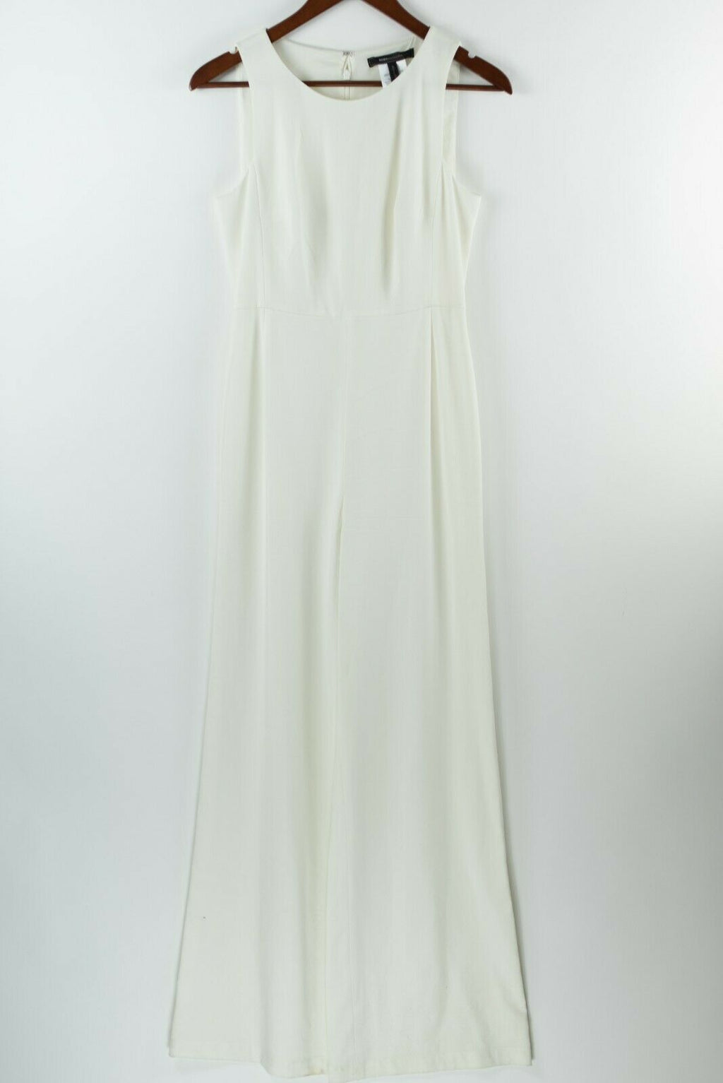 BCBG Max Azria Womens Size 2 XS White Ivory Jumpsuit Pants Sleeveless Wide Leg