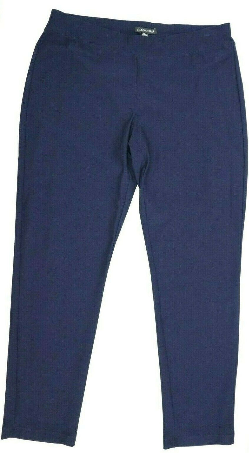 Eileen Fisher Women's Size Medium Navy Blue Pants Stretch