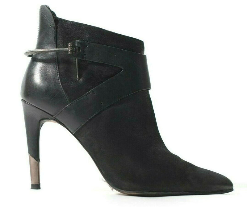 Dolce Vita Womens Size 8 Black Ankle Boots Stiletto Heel Zipper Booties Boots