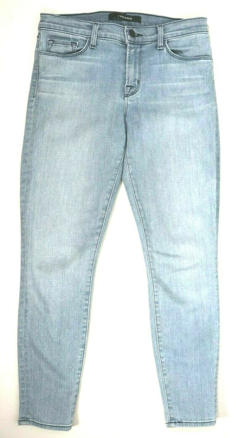 J Brand Womens Size 27 Light Blue Cropped Skinny Jeans