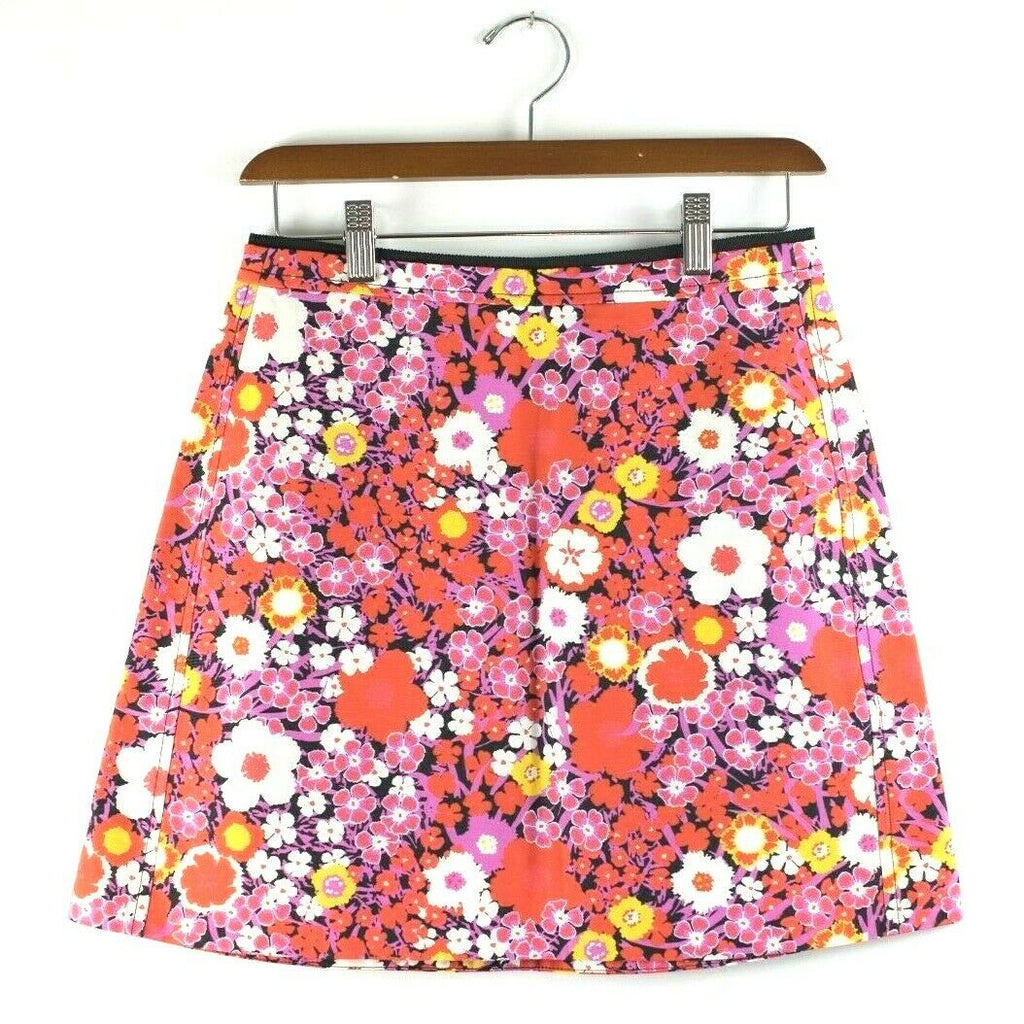 Victoria Beckham Womens Size 2 Extra Small Pink Skirt Saturated Floral Mini